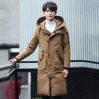 Chaqueta de invierno abrigos 2018 moda gruesa caliente con capucha larga Parka Outwear Casual moda Slim Fit Wadded negro chaquetas más tamaño