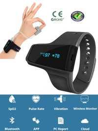 Médico relojes Anti ronquidos dormir ayuda reloj Monitor de corazón de SpO2 oxímetro de pulso de alarma inalámbrico Bluetooth para la apnea del sueño