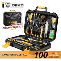 La herramienta básica de 100 piezas para coche Home Depot y el pecho de General hogar Kit de herramienta de mano mecánica Socket Universal llave