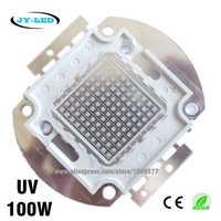 100 W UV de alta potencia COB LED integrado, 3500mA DC32-34V longitud de onda 365nm 380nm 395nm 400nm 410nm 430nm púrpura Ultra violeta