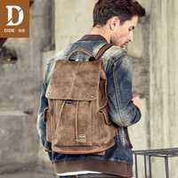 DIDE Anti robo hombres de mochila portátil mochilas para adolescente mujeres hombre estilo Preppy escuela bolsa de viaje Mochila de cuero