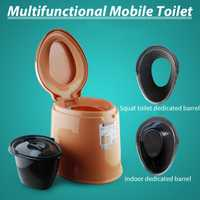 6L Toilet Portable Toilet Camping Outdoor Tool Blanco/caqui