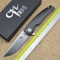 CH3006 Flip plegable cuchillo 154-CM hoja 7075 de aluminio al aire libre camping caza EDC herramienta
