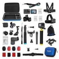 Accesorios de TELESIN funda 20 en 1 Kit de inicio para GoPro Hero 6/5 Hero 7 Cámara de Acción negra kit de cámara de deporte funda para trípode