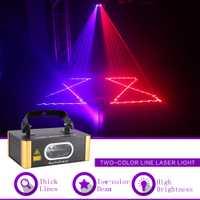 Sharelife Mini 1 Len rojo azul RB haz DMX Proyector láser Luz concierto parte mostrar profesional de efecto de etapa DJ iluminación 504RB