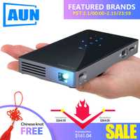AUN inteligente proyector D5S Android 7,1 (opcional 2G + 32G) WIFI Bluetooth HDMI Cine en Casa Mini proyector (opcional D5 blanco)