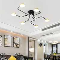 Chandelierrec 2019 Loft lámparas negro/blanco cuerpo de hierro Bar sala de techos bajos de techo LED lámparas de iluminación