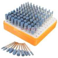 100 unids universal Rotary assorted accesorio de la piedra abrasiva herramienta kit para dremel reparación del reloj del teléfono móvil