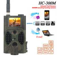 Hc300m cámara de caza MMS 12MP 1080 p foto trampas noche visión de Vida Silvestre trampa de cámara infrarroja de caza camino Chasse grabadora