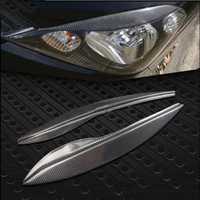 FUWAYDA 2 piezas Real de alta calidad de fibra de carbono decoración faros parpados para Honda Fit 2009-2012