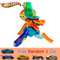 Caliente ruedas Color Splash Laboratorio de Ciencia coche pista Color Desplazadores con diferente Color deporte coche divertido juguete de los niños pista CCP76 regalo