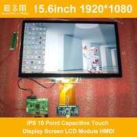 1200 pulgadas 1920x15,6 IPS 10 puntos pantalla táctil capacitiva módulo LCD HMDI portátil Raspberry Pi 3 coche Monitor aéreo PC