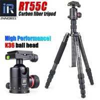 RT55C en fiber de carbone Professionnel trépied pour appareil photo numérique tripode Approprié pour voyage Top qualité série caméra stand 161 cm max