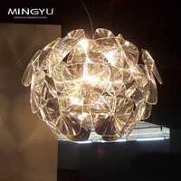 Modern claro colgante de luz láser creativo iluminación para Bar Café Hall proyección bola de la luz 110-240 V LED