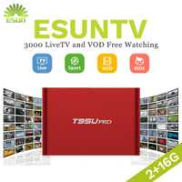 ESUN-TV T95U PRO caja IPTV androide 6,0 Smart TV Box árabe España Reino Unido francés Alemania Italia Países Bajos Suecia Portugal EX-YU xxx US