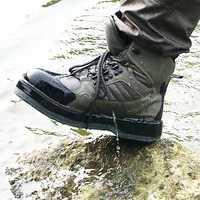 Pesca con mosca zapatos Aqua zapatillas de deporte transpirables Rock deporte vadeando botas de fieltro botas suela de secado rápido antideslizante para pescado pantalones ropa
