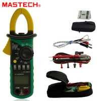 MASTECH MS2008B 3999 cuenta multímetro Digital Amper metro de la abrazadera, abrazadera de corriente AC/tensión DC condensador comprobador de resistencia