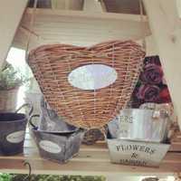 Pastoral creativa hogar joyería colgantes macetas chlorophytum Corazón en forma de cesta de mimbre pesca Americano cuenta