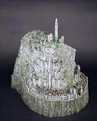 El Señor de los anillos juguete El Hobbit figuras de acción Minas Tirith modelo estatua juguetes modelo cobre imitación novedad Cenicero mejor regalo