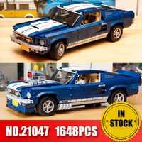 Forded Mustanged 21047 creador experto técnico legoinglys Compatible 10265 bloques de construcción coches ladrillos juguetes regalos de cumpleaños