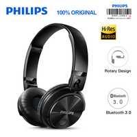 Philips auriculares Bluetooth SHB3060 auricular inalámbrico con Micro USB de litio diadema batería 11 horas de tiempo de música para S9 S9 Plus