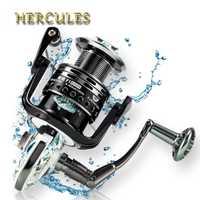 Hercules 7000-1000 15 + 3 BB Metal Spinning carrete de pesca volante para pesca de agua dulce/salada mar carrete giratorio carrete de pesca carpa