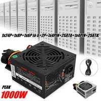 Max 1000W alimentation PSU PFC ventilateur silencieux ATX 24pin 12V PC ordinateur SATA PC de jeu alimentation pour ordinateur Intel AMD