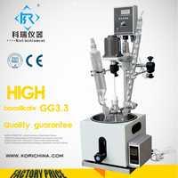 5L borosilicato alto GG3.3 con teflón agitador de una sola capa reactor de vidrio para pirólisis de reacción