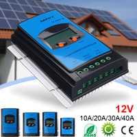 10A 20A 30A 40A 12 V MPPT Panel Solar controlador de carga de la batería regulador LCD