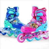 Niños azul y rojo patines zapatos Classic sets doble propósito patines zapatos con siez S/M/L puede adustable y transpirable