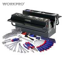 WORKPRO 183PC ensemble d'outils maison outils boîte à outils en métal ensemble de Kits d'outils de réparation jeu de tournevis jeu de douilles