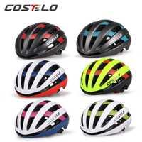 2017 Costelo luz Ciclismo casco bicicleta casco ultraligero Costelo casco MTB Carretera Cascos 54-58 cm envío libre