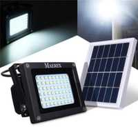 Luz Solar Led con energía Solar 54 LED Sensor de luz de inundación lámpara de seguridad exterior impermeable