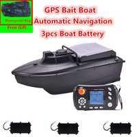 Bolsa gratis JABO 2CG 20A/10A GPS retorno automático de cebo de pesca barca GPS buscador de peces cebo Barco de navegación RC barco con la bolsa de Juguetes