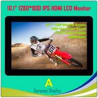 10,1 pulgadas 1024*600*1280*800 HDMI módulo LCD Monitor de pantalla IPS pantalla con USB Panel táctil capacitivo para Raspberry Pi
