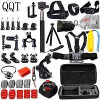 QQT para Gopro accesorios para go pro hero 6 5 4 3 soporte kit para SJCAM para SJ4000/para xiomials para yi 4 K por eken h9