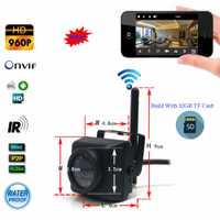 SPYEYE Camhi 1.3MP 960 P Mini impermeable IP66 32 GB TF tarjeta IR visión nocturna Cámara cámara IP Wifi al aire libre para el coche y la flota de vehículos y de Nido de Pájaro