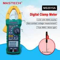 Medidor pinza Digital MASTECH MS2015A Auto de la gama multímetro AC 1000A voltaje actual frecuencia multímetro de la abrazadera de retroiluminación