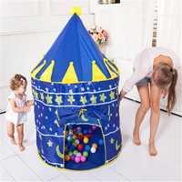 4 colores tienda de juegos portátil plegable Prince tienda plegable niños Castillo casa juego casa niños regalos interiores tiendas al aire libre ¡!