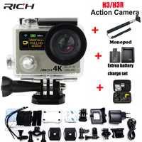 Cámara de Acción H3R H3 Ultra HD 4 K 170D lente ir de pantalla Dual de la Cámara pro resistente al agua 30 M de Control remoto cámara del deporte Cámara de