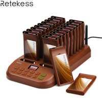 Téléavertisseur de Restaurant de système de mise en file d'attente sans fil Retekess T116 1 transmetteur + 20 téléavertisseurs équipements de Restaurant rechargeables