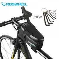 2018 ROSWHEEL nueva bicicleta marco delantero tubo bolsa bicicleta ciclismo accesorios 1.5L 100% impermeable en Stock