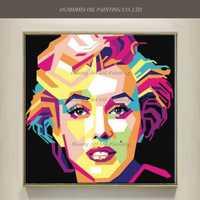 Nuevo Estilo Pintado A Mano Famosas Marylin Monroe Retrato de Arte Pop de La Lona Pintura Al Óleo Abstracta Actor de Carácter de Acrílico Pinturas