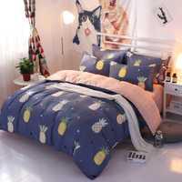 Juego de ropa de cama 3/4 piezas funda de edredón de fibra funda de almohada suave y cómoda Multi tamaño opcional envío gratis