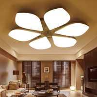 Lámpara de techo de forma de flor lámpara de techo de pétalo lámpara de techo de moda para sala de estar dormitorio abajur led lámpara de ahorro de energía