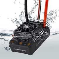 Hobbywing EzRun Max6/Max5 V3 160A/200A controlador de velocidad impermeable sin escobillas ESC para 1/6, 1/5 coche RC