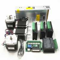 CNC Kit de Routeur 4 Axes, 4 pièces TB6600 4A pilote de moteur pas à pas + Nema23 moteur 57HS5630A4 + 5 axes carte d'interface + alimentation