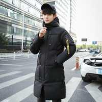Parka larga de moda para hombre chaqueta gruesa de invierno para hombre ropa de marca Tace & Shark abrigo largo de invierno para hombre chaqueta roja negra y blanca para hombre
