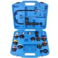 Kit de herramientas de prueba de presión de radiador Universal de 18 unids, herramienta de prueba de sistema de enfriamiento, Detector de fugas de agua, Material de nailon