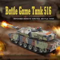 Mini 516 RC tanque Juguetes lucha contra rayos infrarrojos LED Control remoto batalla Tops modelo al aire libre disparar robot RC Juguetes para kid regalo